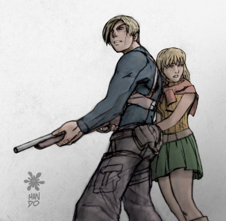 Leon And Ashley Re4 Resident Evil Resident Evil 4 Ashley Evil