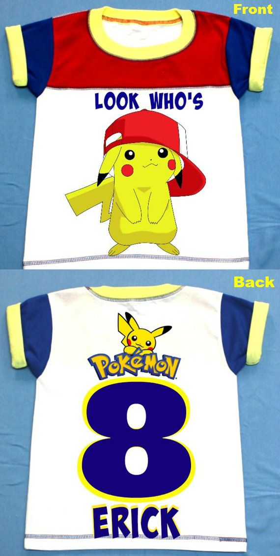 Pokemon Birthday Boy T Shirt Personalized 2T3T4T5T6T Youth S M Personalization Is Included At No Additional Cost