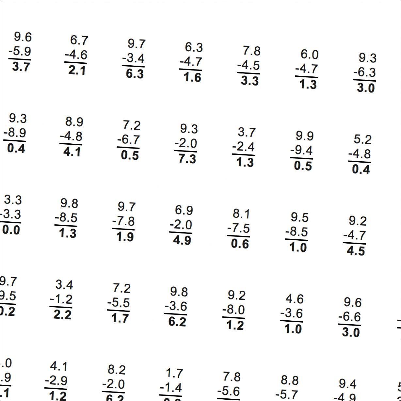 Subtraction Worksheets Subtraction With Decimals