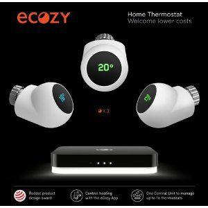 Smart Home Funk ecozy smart home komfort kit wlan central unit und 3