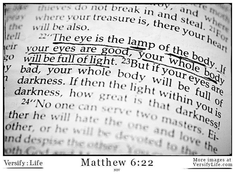 Bildresultat för Matt 6:22