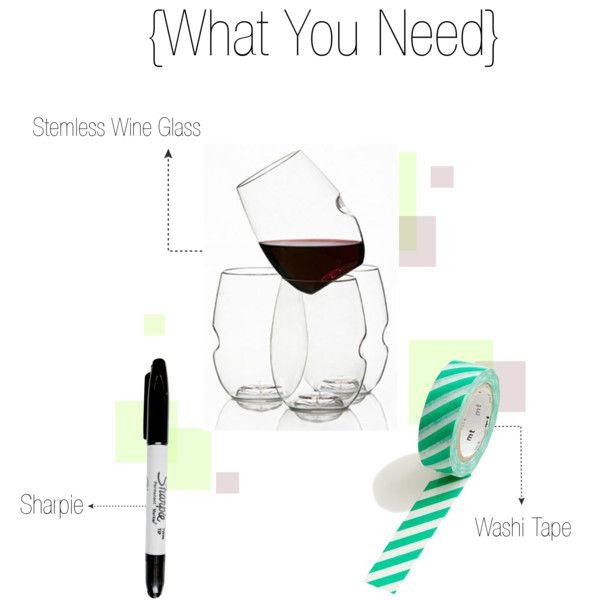 Stemless Wine Glass Name Tags Stemless Wine Glass Wine Glass Tags Diy Wine Glass