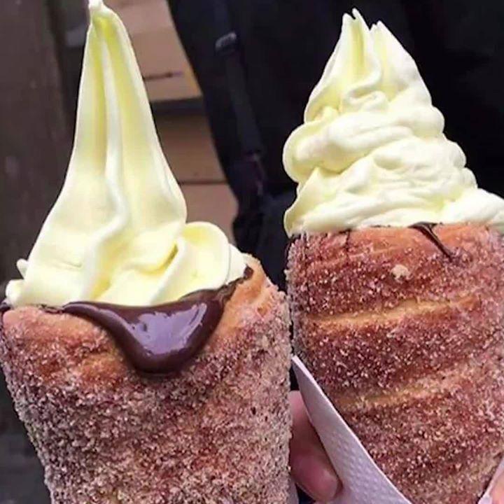 How to make donut ice cream cones via unilad food pinterest how to make donut ice cream cones via unilad ccuart Gallery