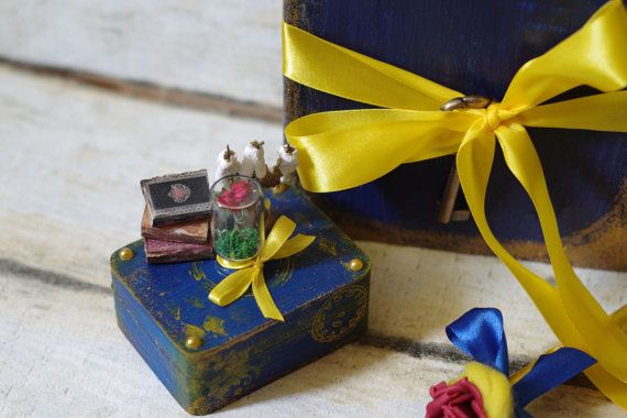 Set Of 3 Beauty And The Beast Wedding Guest Book Photo