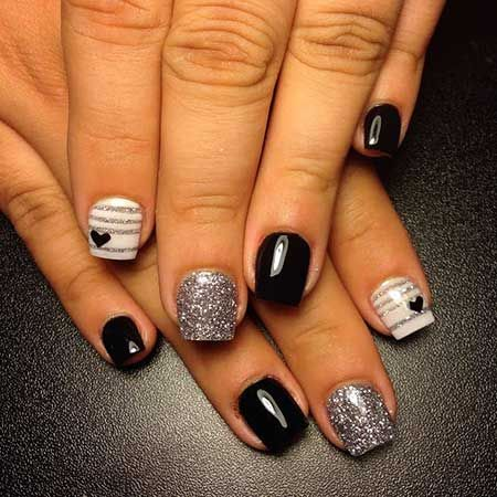 Black And Silver Nails - Black And Silver Nails Nails Pinterest Silver Nail, Vacation