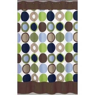 Sweet Jojo Designs Designer Dot Shower Curtain | Wayfair