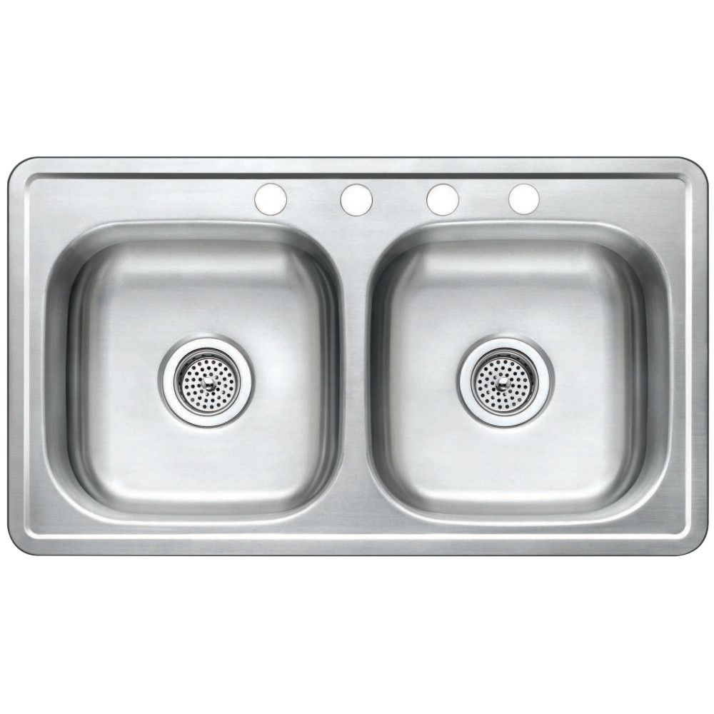 Gourmetier GKTD33197 Drop-in Double Bowl Kitchen Sink - Price ...
