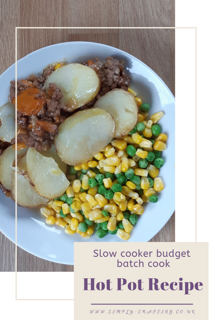 Slow Cooker Budget Batch Cook Lancashire Hot Pot Recipe Slow Cooked Mince In A Rich Gravy Topped With Chunky S Hot Pot Recipe Pot Recipes Quick Meals To Make