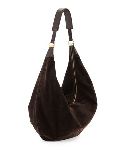 Leather · V1ZSS THE ROW Sling 15 Suede Hobo Bag 79970cee5aefc