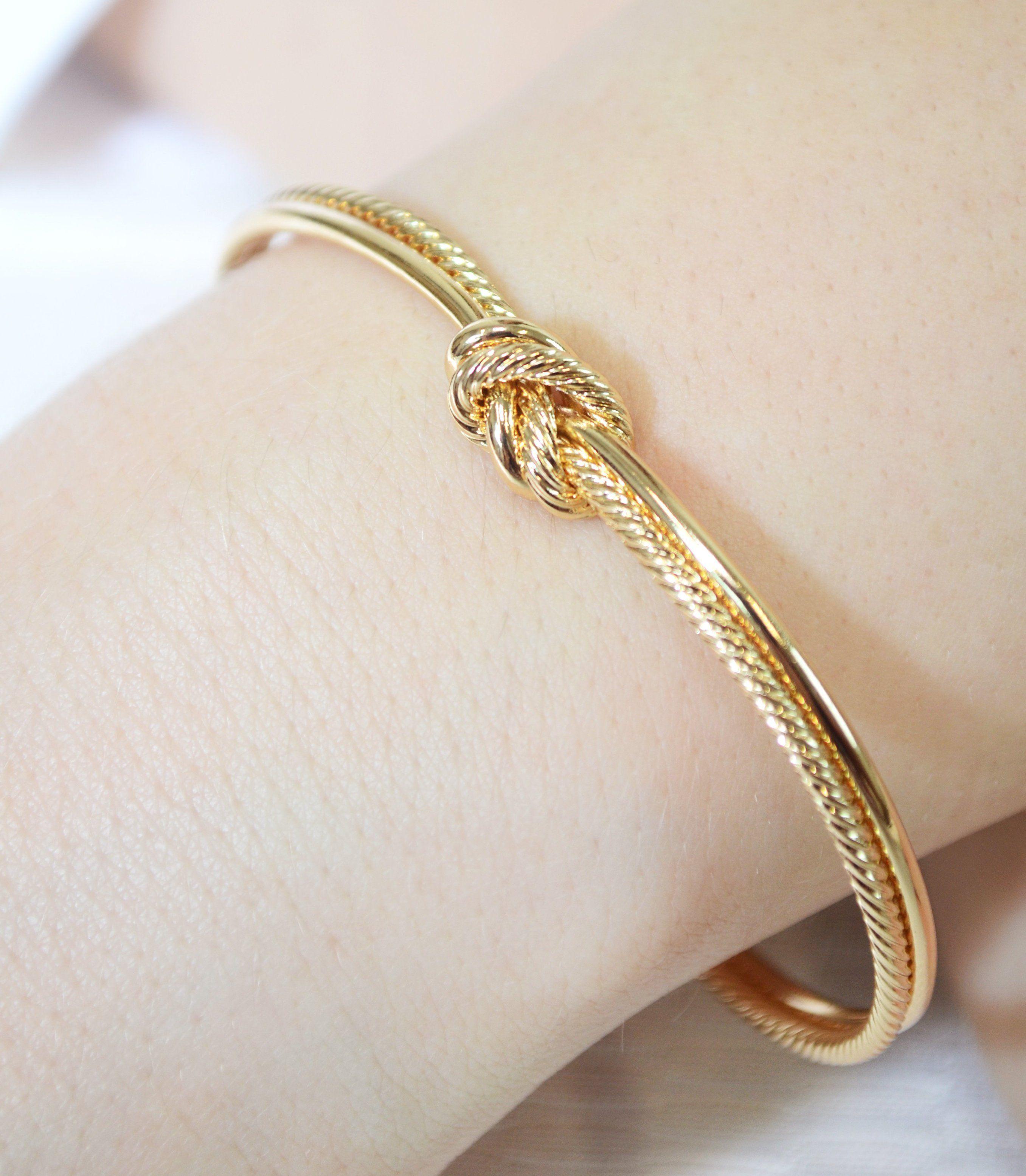 Sailor Love Knot Bracelet Maid Of Honor Bracelet Earring Set