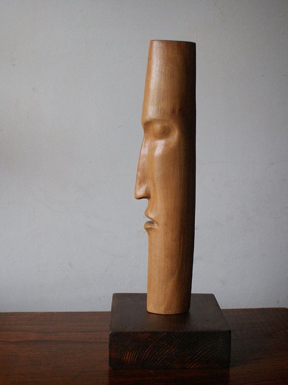 Moderne Holzskulpturen iii oak carved wood statue modern wood sculpture