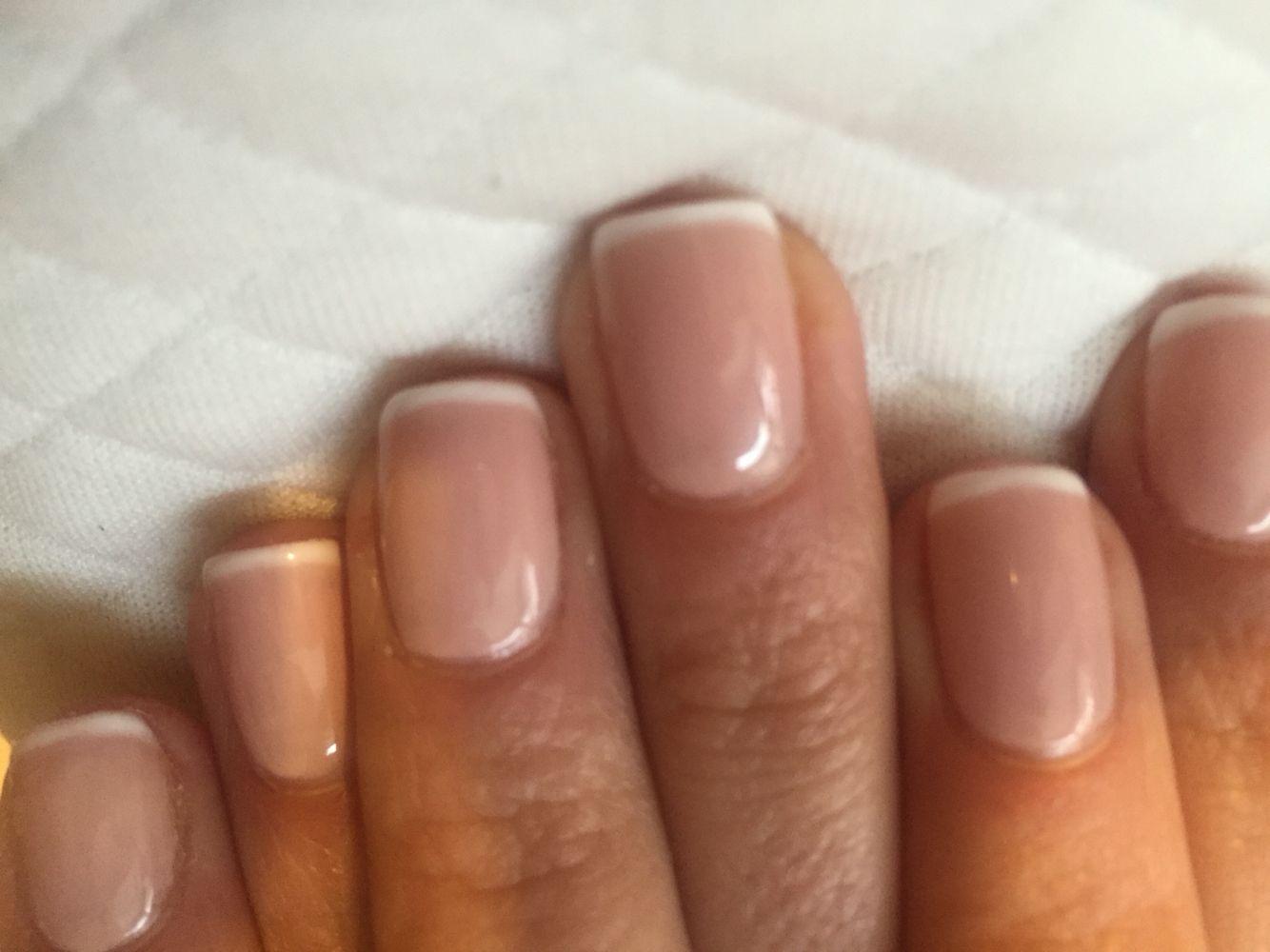 Thin french no chip manicure | Beauty | Pinterest | Manicure, Mani ...
