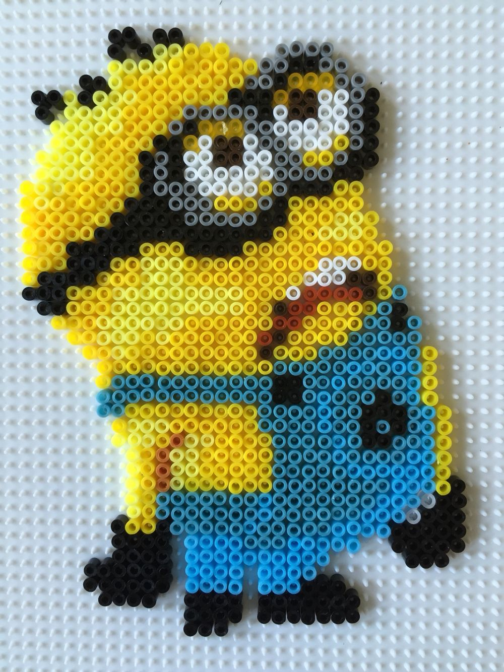 minion mini hama beads modified hama beads pinterest mini hama beads hama beads and beads. Black Bedroom Furniture Sets. Home Design Ideas