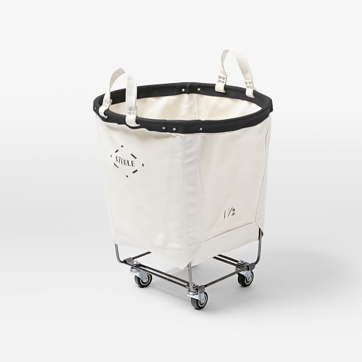 Steele Canvas Carry Truck Round 160 Laundry Hamper Storage Baskets Laundry Basket