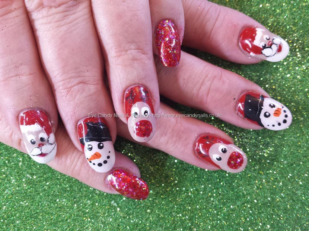 Christmas freehand nail art   <3 \'13 Winter Nails   Pinterest   Nail ...