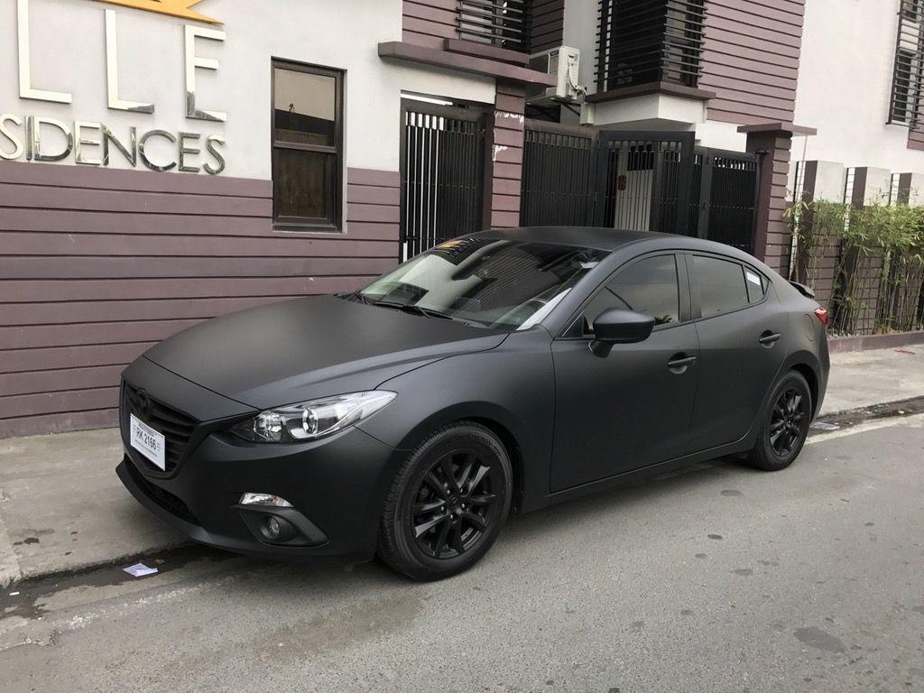 My mazda3 now in matte black : mazda3 | Car upgrades ...
