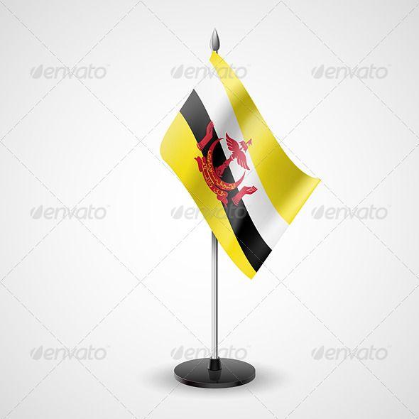 Table Flag Of Brunei Brunei Pinterest Brunei Flags And