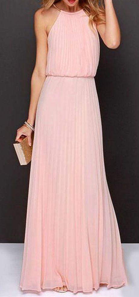 Blush Bridesmaid Maxi dress | Dresses | Pinterest | Vestiditos ...