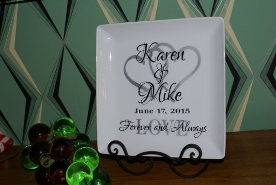 Personalized Wedding Plate Couple Name Date Custom Perfect Gift