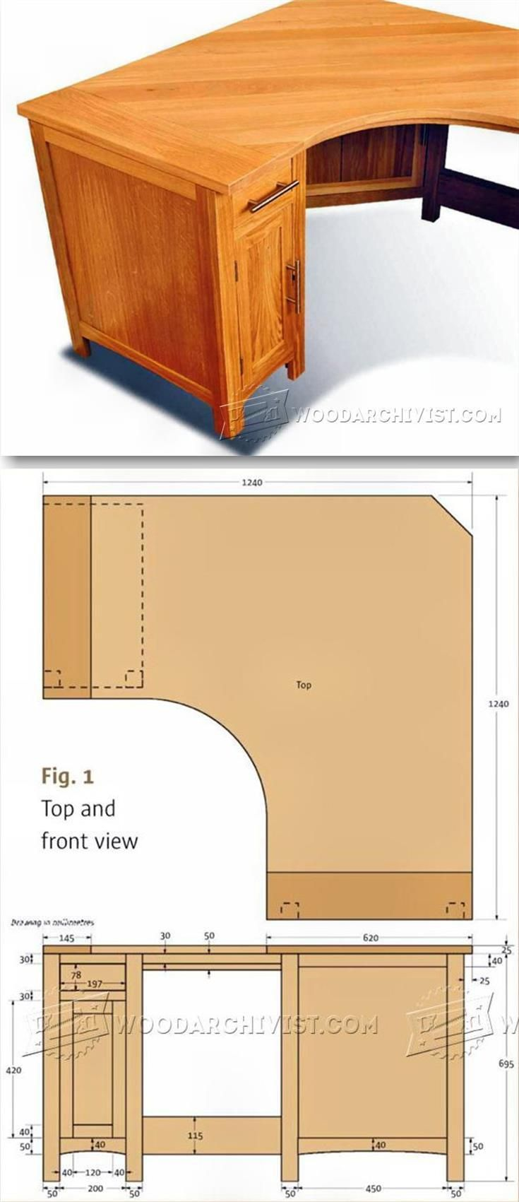 Corner computer desk plans furniture plans and projects