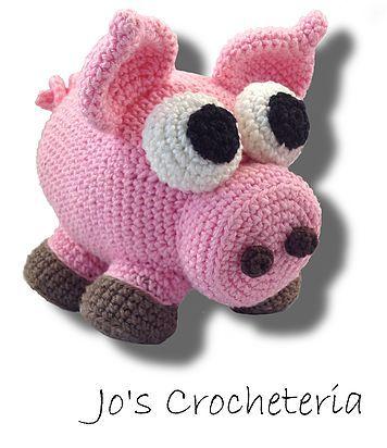 Jo\'s Crocheteria - Free Amigurumi Pig Crochet Pattern, stuffed toy ...