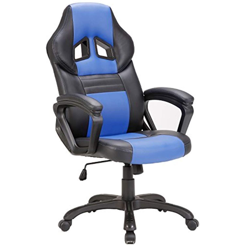 Seatzone Swivel Office Chair Racing Car Style Bucket Seat Gaming