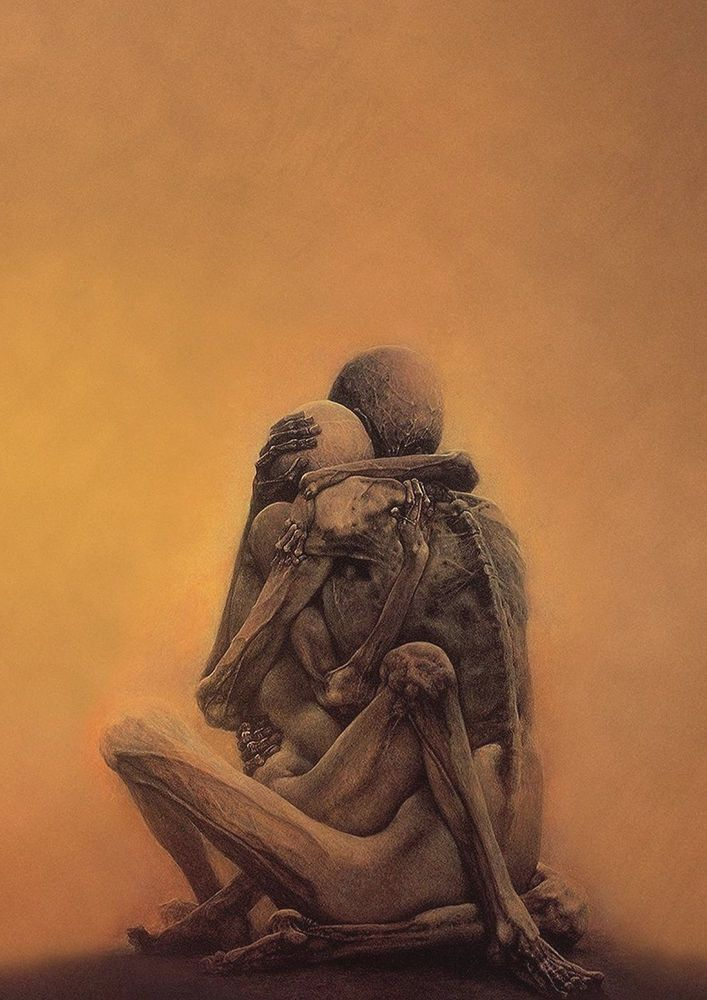 "zdzislaw beksinski ""untitled 19"" large art print poster, various ..."