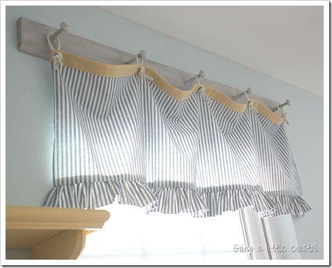 coastal window topper   Crafts And DIY   Pinterest   Curtain ideas ...