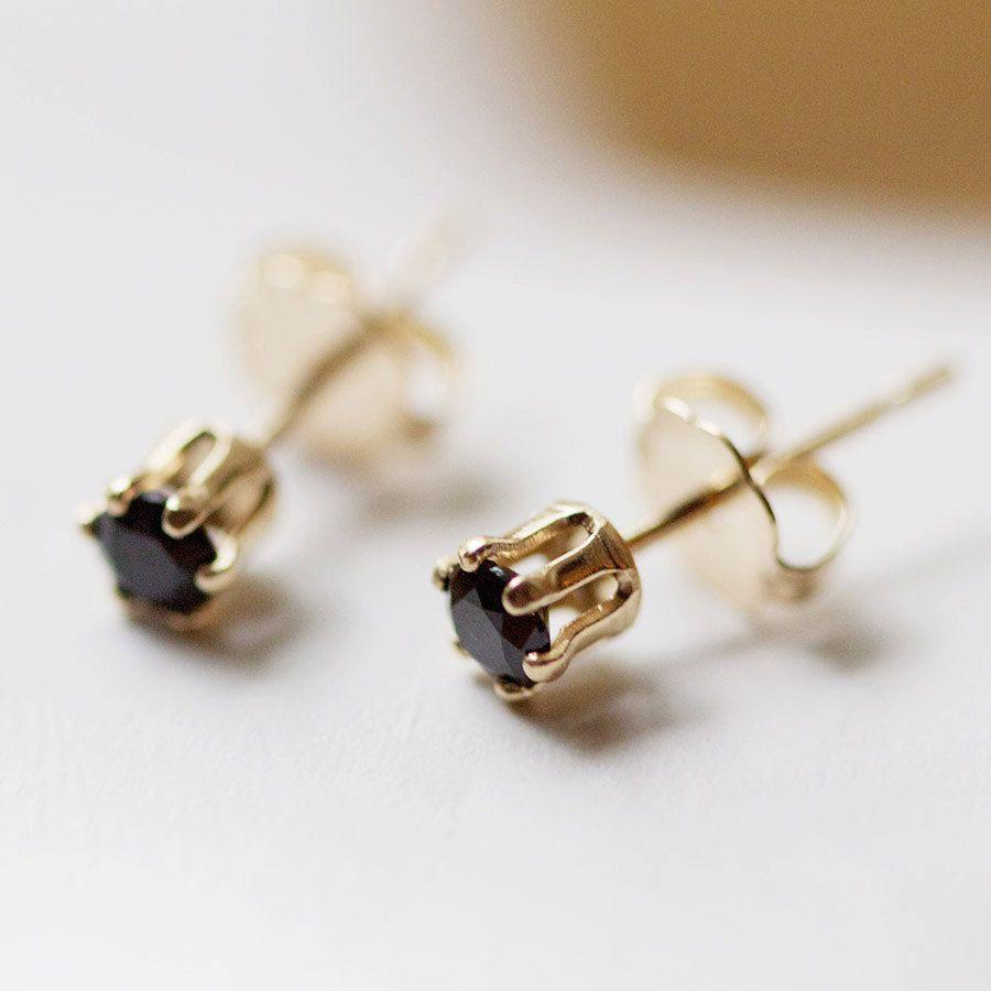 nova - tiny gold stud earrings by elephantine
