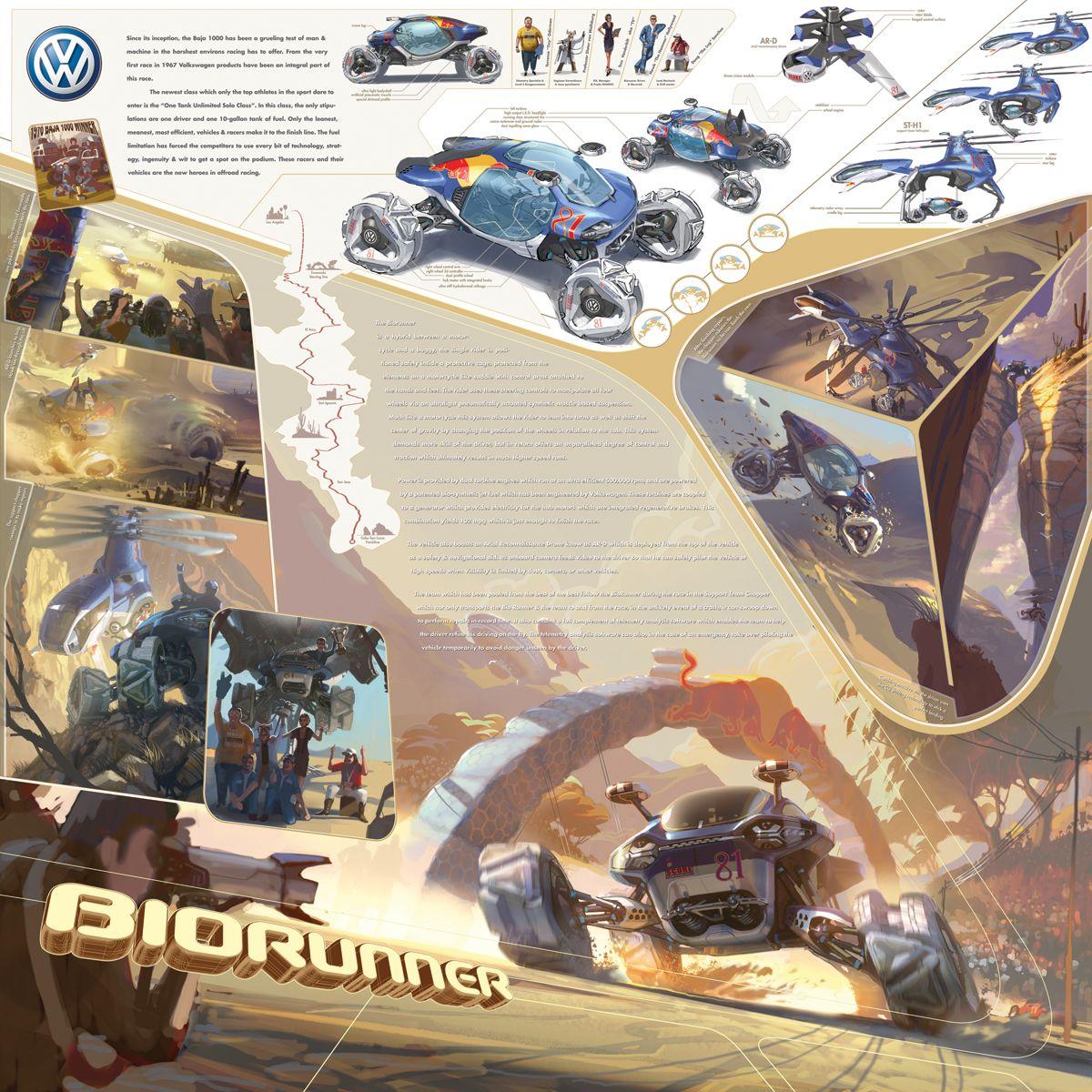 Poster design challenge - Vw Biorunner La Design Challenge