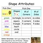 This download is for the directions to a shape sorting center and an attribute chart.  You will need to provide your students with crafting foam sh...