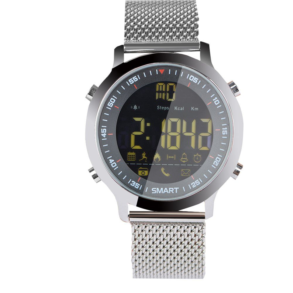 Waterproof Sports Watch Pedometer Stopwatch Bluetooth