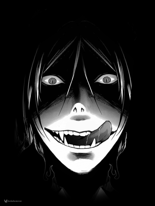 Злая улыбка аниме картинки