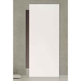 Porte Seule Pour Systeme Invisible Arithmos Laque Blanc 105 Cm Porte Coulissante Laque Blanche Porte Coulissante Miroir