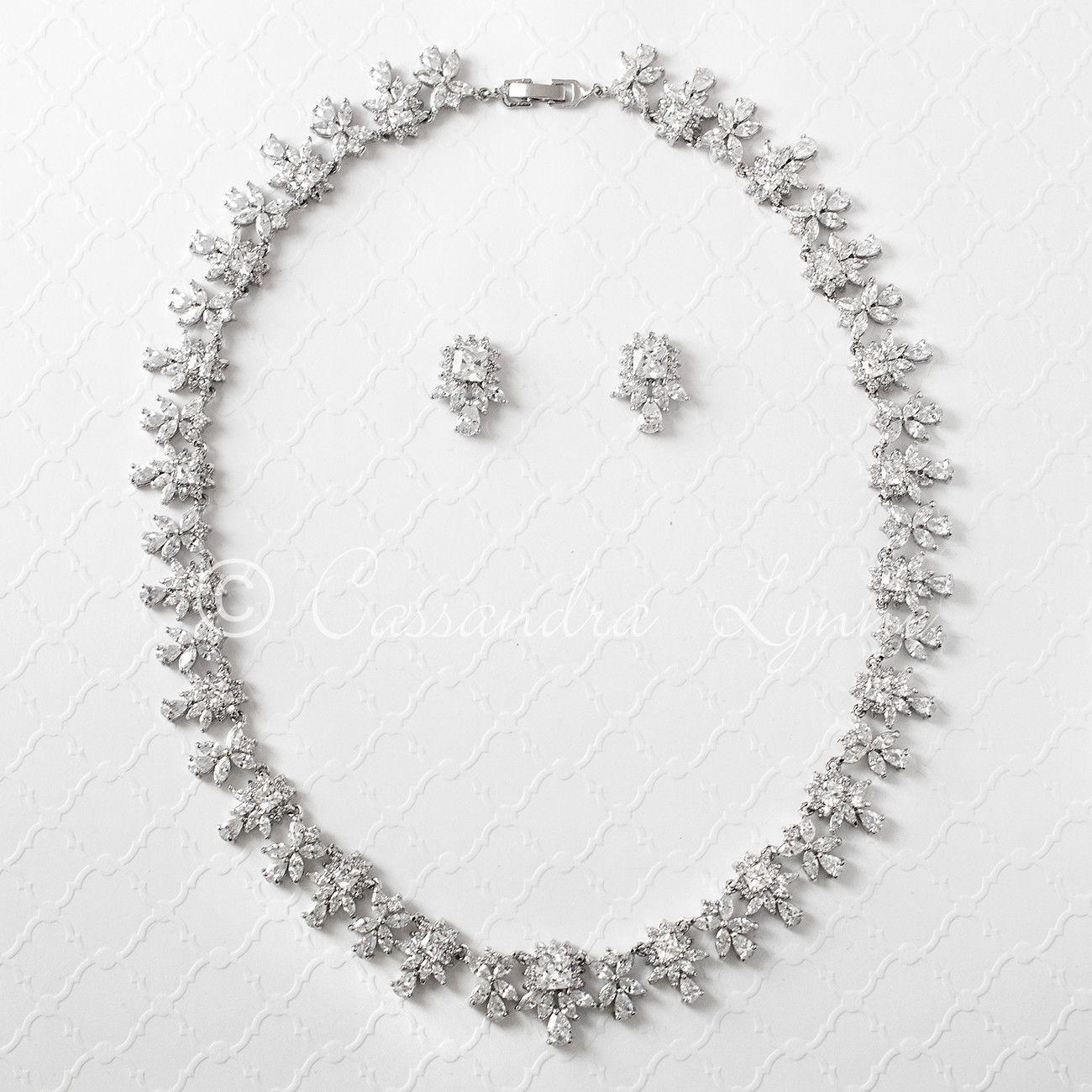 Square cz accented bridal jewelry set modern jewelry pinterest
