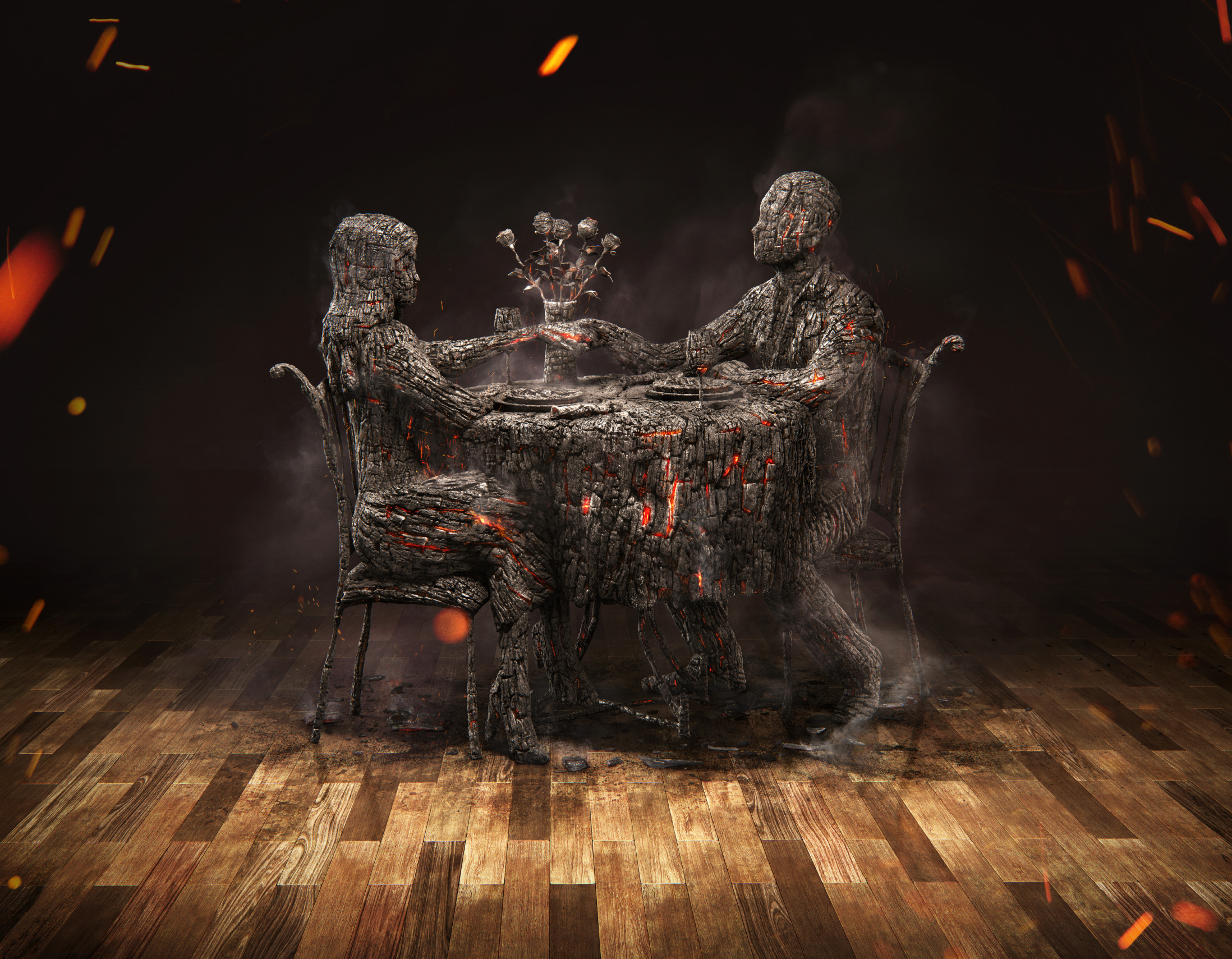 """Check out this @Behance project: """"Burnt Dinner""""…"""