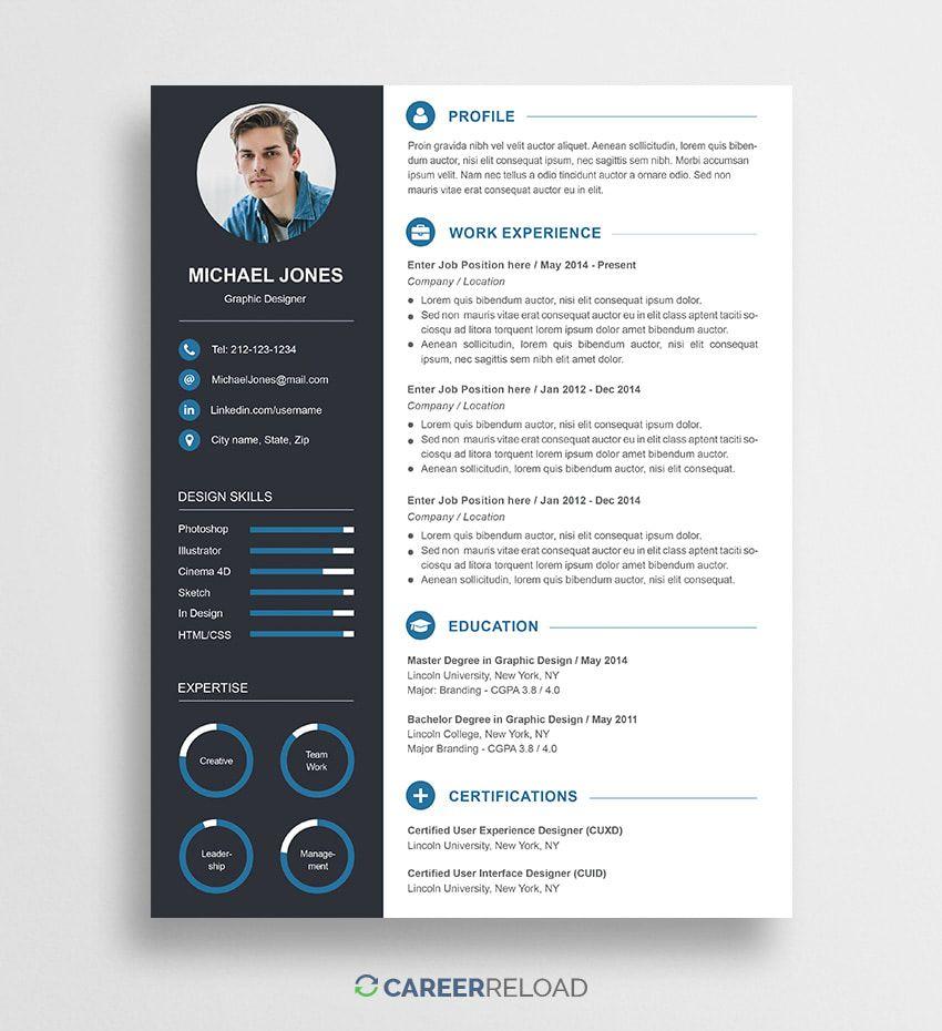 Free Photoshop Resume Templates - Free Download | Resume ...