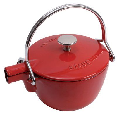 Staub Staub Cast Iron 1 Qt. Cast Iron Stovetop Tea Kettle | Perigold #teapots