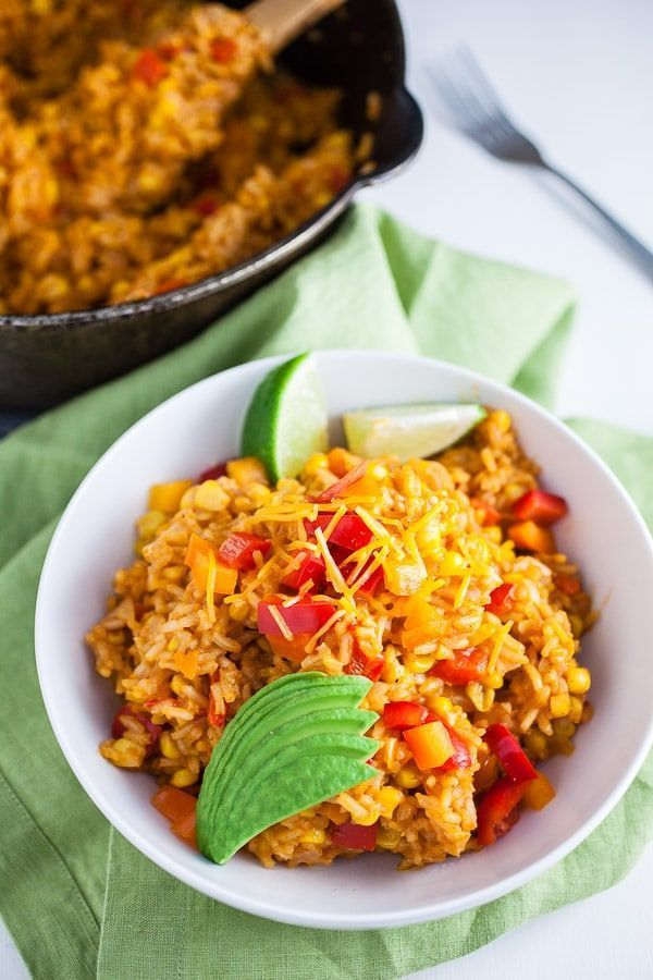 Cheesy One Pot Spanish Rice This Cheesy One Pot Spanish Rice is a quick and easy gluten free  side
