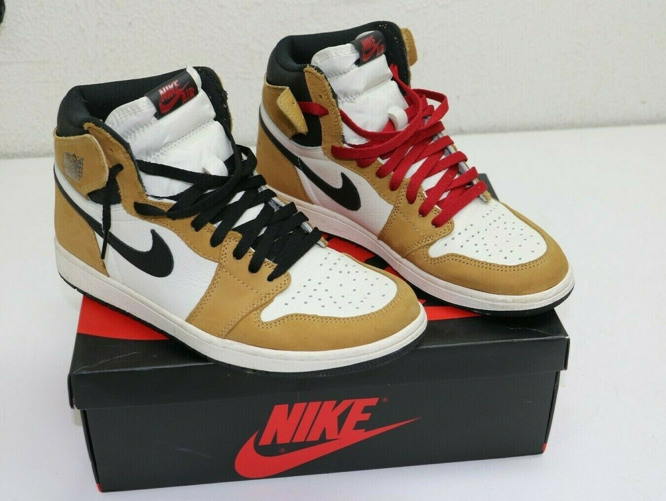 Nike Air Jordan 1 Retro High Og Roty Golden Harvest Black Size