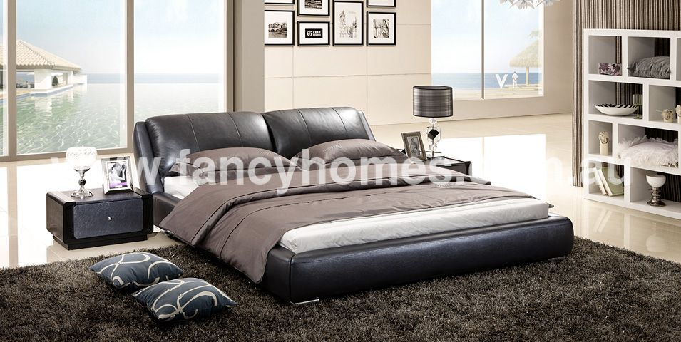 Edmund Italian Leather Bed Frame l Fancy Homes My body my