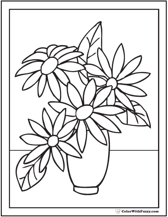 102+ Flower Coloring Pages ✨ Customize And Print Ad-free PDF  ColorWithFuzzy.com Ad-free PDF #PrintableCo… Flower Drawing, Flower  Coloring Sheets, Flower Printable