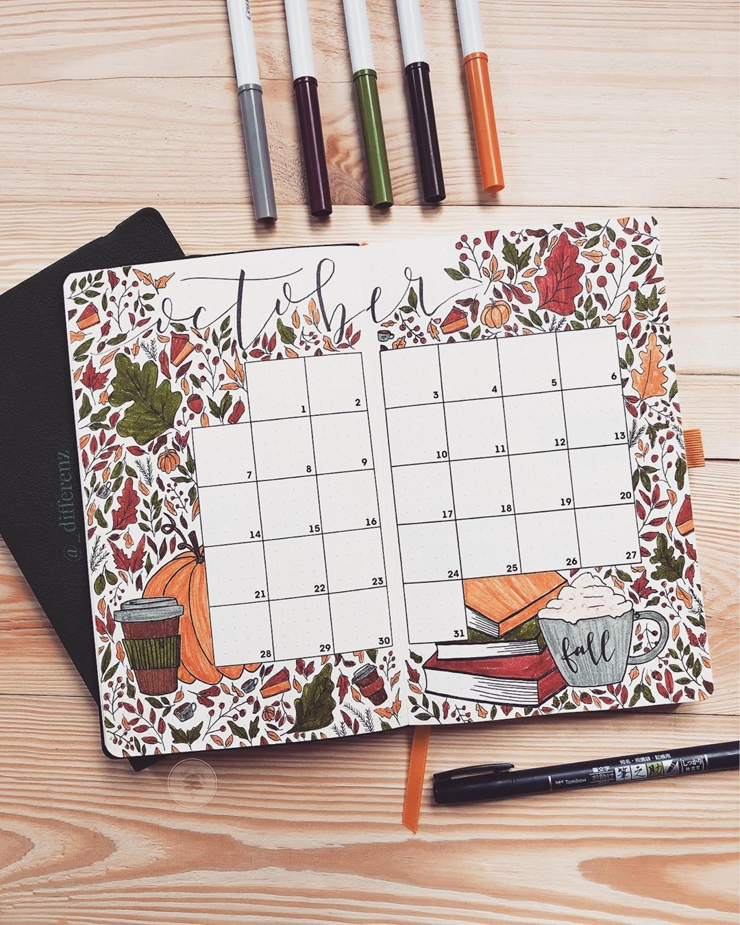 "� ������ ��������� on Instagram: ""������� �������� ������ Something that excites me to plan my activities is a beautifully decorated calendar. �� And this October calendar…"""
