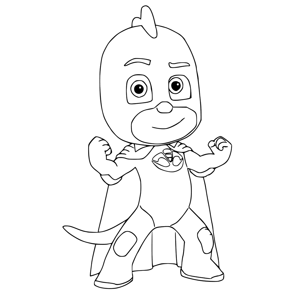 Top 30 pj masks coloring pages of 2017 pj mask and birthdays for Gecko coloring pages