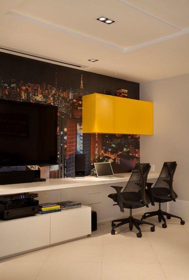 Cobertura Duplex Edifício Mandarim (Condomínio Península) / Cadore Arquitetura #hometheater #homeoffice #lighting