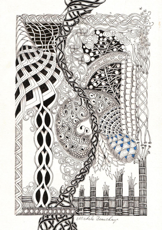 Zentangle Inspired Art Tornado by shellybeauch on Etsy | Nice Art ...