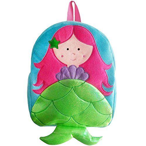 Sassafras KiddyBopBags Plush Mermaid Backpack