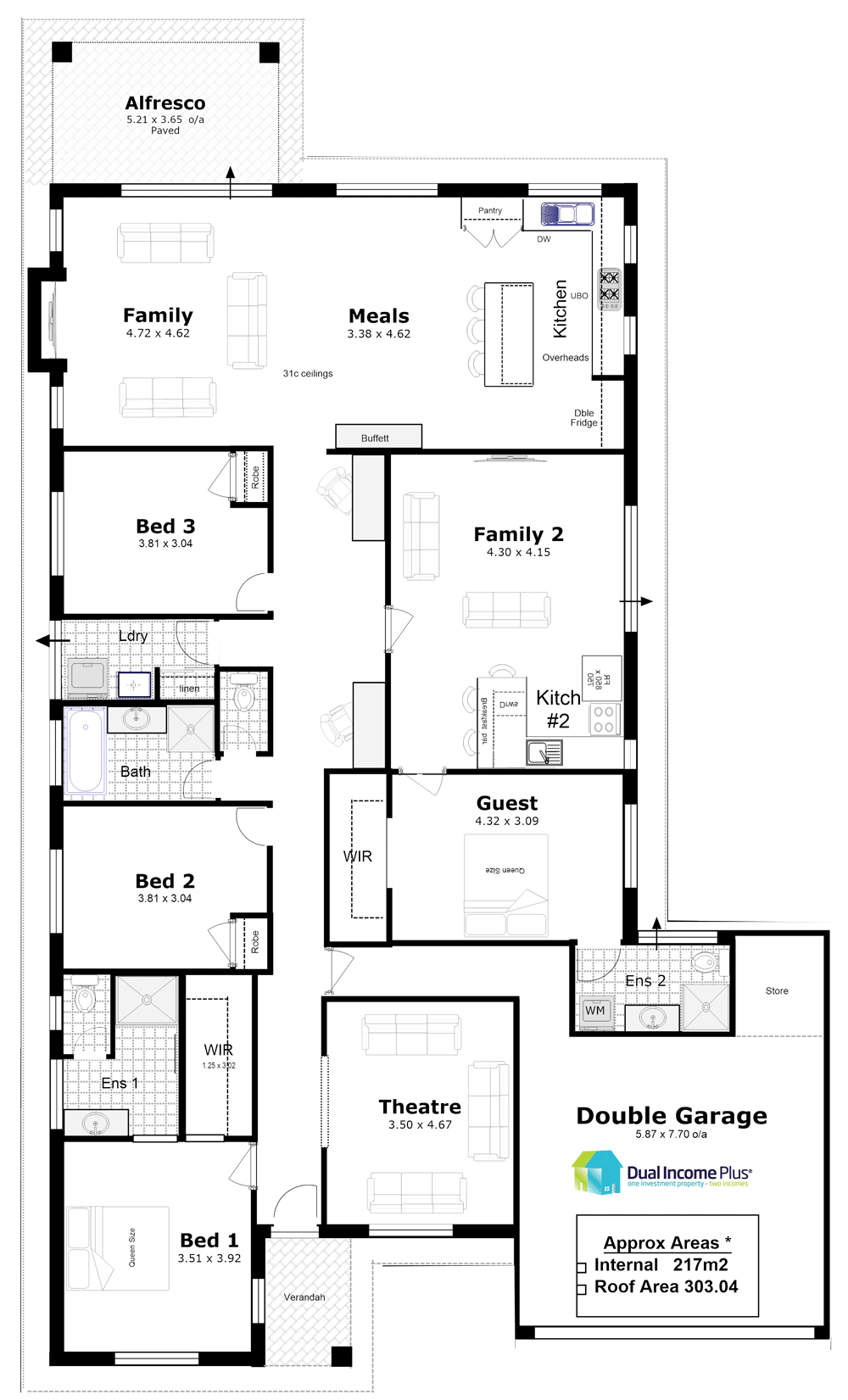 Discover Our Entire Range Of Dual Occupancy House Plans Designed For The Perth Metro Area From Sin Family House Plans Duplex Floor Plans House Plans One Story