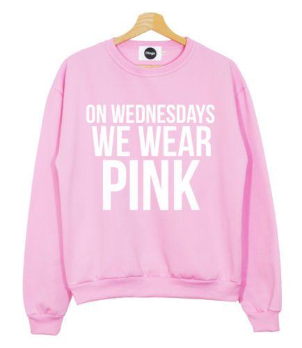 Wednesdays Wear Pink Sweater Jumper T Shirt Mean Girls You -9046