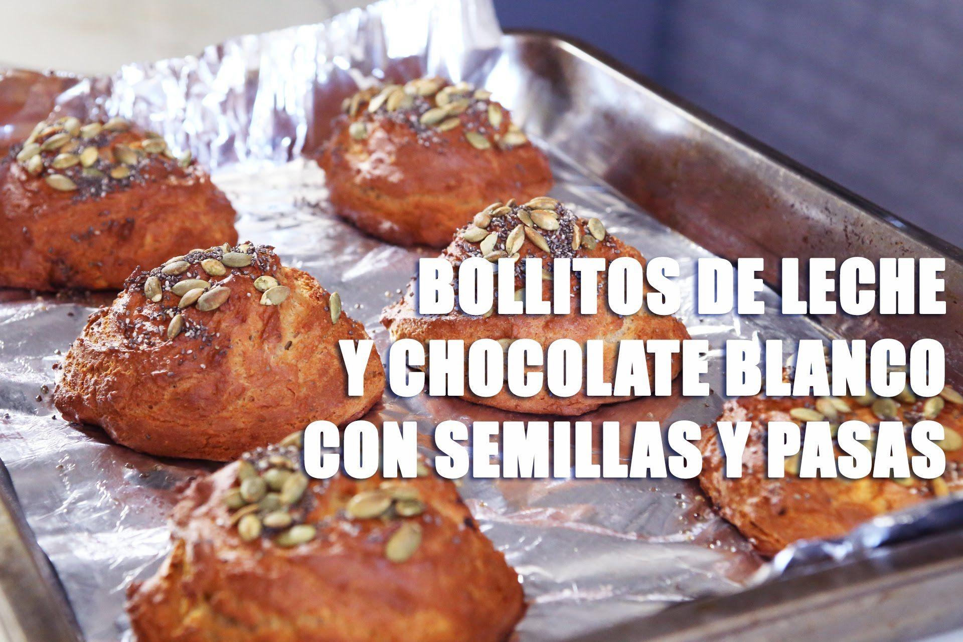 RECETA FITNESS/ Bollitos de leche y chocolate blanco con semillas y pasas